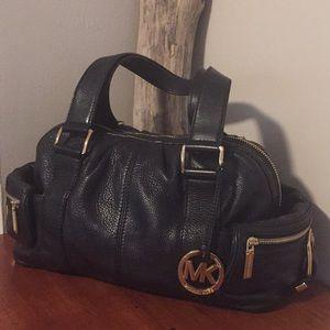Michael Kors pebbled leather satchel